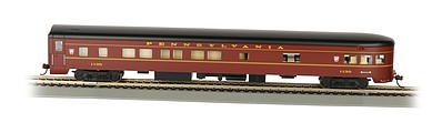 Bachmann 85' Smooth-Side Observation Car Pennsylvania -- HO Scale Model Train Passenger Car -- #14301