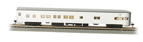 Bachmann HO 85 Smooth Side Observation Car, Undec/Aluminum