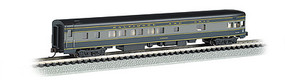 Bachmann 85 Smooth-Side Observation w/Int Light B&O N Scale Model Train Passenger Car #14353