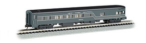 Bachmann 85 Smooth-Side Observation w/Interior Light NYC N Scale Model Train Passenger Car #14355