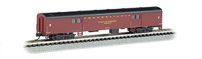 72' Smooth-Side Baggage Car Pennsylvania RR N Scale Model Train Passenger Car #14451