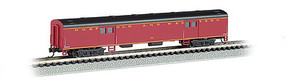 Bachmann 72 Smooth-Side Baggage Car Norfolk & Western N Scale Model Train Freight Car #14452