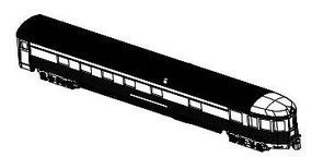 Bachmann 85 Streamline Observstion Unlettered N Scale Model Train Passenger Car #14554