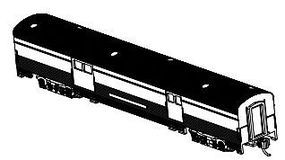 Bachmann 85 Streamline Observstion Unlettered N Scale Model Train Passenger Car #14654