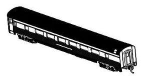 Bachmann 85 Streamline Coach w/Light Unlettered Aluminum N Scale Model Train Passenger Car #14754