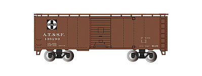 Bachmann 40' Steam Era Boxcar Santa Fe -- HO Scale Model Train Freight Car -- #15001