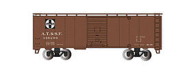 Bachmann 40' Steam Era Boxcar Santa Fe HO Scale Model Train Freight Car #15001