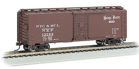 Bachmann 40 Steam Era Boxcar Nickel Plate Road HO Scale Model Train Freight Car #15004