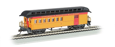 Bachmann Old-Time /Rounded-End Combine Western & Atlantic RR HO Scale Model Train Passenger Car #15201