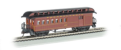 Bachmann Old-Time Rounded-End Combine Western & Atlantic RR -- HO Scale Model Train Passenger Car -- #15202