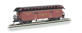 Bachmann Old-Time Rounded-End Baggage Pennsylvania RR HO Scale Model Train Passenger Car #15302