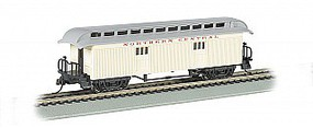 Bachmann Wood Old Time Baggage Northern Central HO Scale Model Train Passenger Car #15303