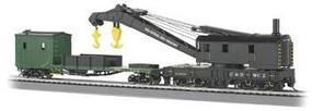 Bachmann 250 Ton Crane & Boom Tender C&O HO Scale Model Train Freight Car #16122