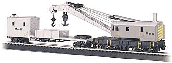 Bachmann SS 250T Crane & Boom Tender MOW HO Scale Model Train Freight Car #16138