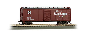 Bachmann 40' MAP Grand Canyon Box Car Santa Fe HO Scale Model Train Freight Car #16503