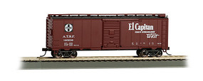 Bachmann 40 MAP El Capitan Box Car Santa Fe HO Scale Model Train Freight Car #16504