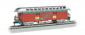 Bachmann HO Ringling Bros. & Barnum & Bailey Old-Time Baggage Car w/Rounded End Roof