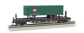 Bachmann 526 Flat w/35 Trailer Baltimore & Ohio REAX HO Scale Model Train Freight Car #16702