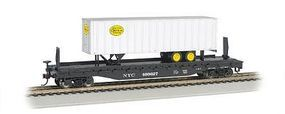 Bachmann 526 Flat w/35 Trailer New York Central HO Scale Model Train Freight Car #16703