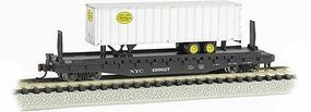 Bachmann 526 Flatcar with piggy New York Central N Scale Model Train Freight Car #16753