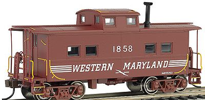 Bachmann NE Steel Caboose Western Maryland #1858 -- HO Scale Model Train Freight Car -- #16816