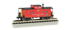 Bachmann Northeast Steel Caboose Delaware & Hudson N Scale Model Train Freight Car #16861