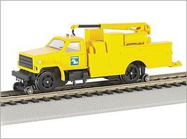 Bachmann MOW Hi Rail Equip Truck w/Crane Conrail HO Scale Model Train Freight Car #16903