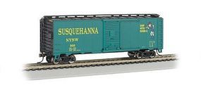 Bachmann 40 Box NY/Susquehanna/Western (Suzy Q) HO Scale Model Train Freight Car #17001