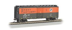 Bachmann 40 Box Great Northern (Green/Orange) HO Scale Model Train Freight Car #17002