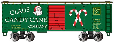 Bachmann Ho 40 BOXCAR CLAUS CANDY CANE