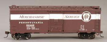 Bachmann 40' Boxcar Pennsylvania Merchandise Service -- HO Scale Model Train Freight Car -- #17014
