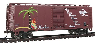 Bachmann PS1 40' Boxcar Missouri Pacific Herbie -- HO Scale Model Train Freight Car -- #17022