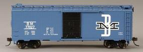 Bachmann 40 Boxcar Boston & Maine HO Scale Model Train Freight Car #17048