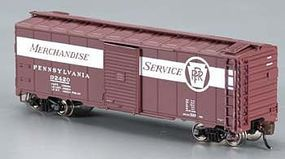 Bachmann AAR 40 Steel Box PRR Merchandise Service N Scale Model Train Freight Car #17052