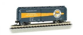 Bachmann AAR 40 Steel Boxcar Baltimore & Ohio Timesaver N Scale Model Train Freight Car #17057