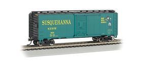 Bachmann 40' Steel Box New York/Susquehanna/Western N Scale Model Train Freight Car #17058