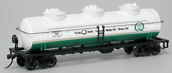 Bachmann 40' 3-Dome Tank Quaker State -- HO Scale Model Train Freight Car -- #17137