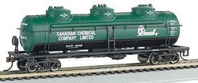 Bachmann 40 3-Dome Tank Car Chemcell Carbide HO Scale Model Train Freight Car #17143