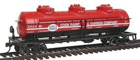 Bachmann 40 3-Dome Tank Car Cook Paint & Varnish Co. CPVX HO Scale Model Train Freight Car #17145