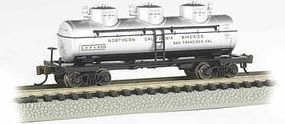 Bachmann 3-Dome Tank Northern California Wineries N Scale Model Train Freight Car #17153