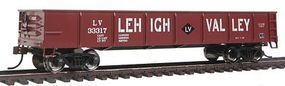 Bachmann 40 Gondola Lehigh Valley Red HO Scale Model Train Freight Car #17227