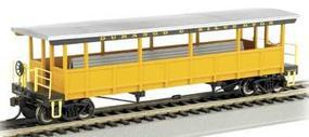 Bachmann Open Sided Excursion Car Durango & Silverton HO Scale Model Train Passenger Car #17432