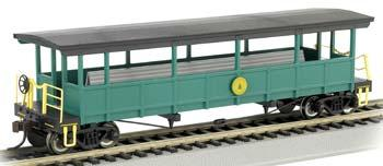 Bachmann Open Sided Excursion Car w/Seats Cass Scenic RR HO Scale Model Train Passenger Car #17445