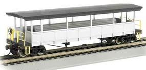 Bachmann Open-Sided Excursion Car w/Seats Unlettered HO Scale Model Train Passenger Car #17447
