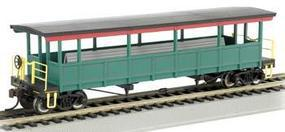 Bachmann Open-Sided Excursion Car w/Seats Unlettered HO Scale Model Train Passenger Car #17449