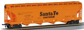 Bachmann 56 Center Flow Hopper Santa Fe ATSF 101411 HO Scale Model Train Freight Car #17502