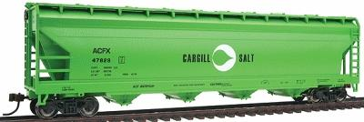 Bachmann 56' ACF Center-Flow Hopper Cargill Salt -- HO Scale Model Train Freight Car -- #17531