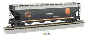 Bachmann 56 4-Bay Center Flow Hopper Kansas City Southern N Scale Model Train Passenger Car #17553