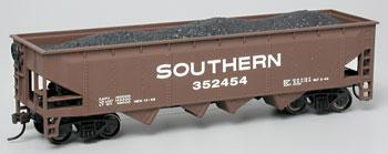 Bachmann 40' Quad Hopper Southern -- HO Scale Model Train Freight Car -- #17604