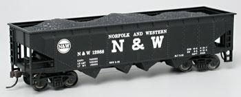 Bachmann 40 Quad Hopper Norfolk & Western #12988 HO Scale Model Train Freight Car #17642